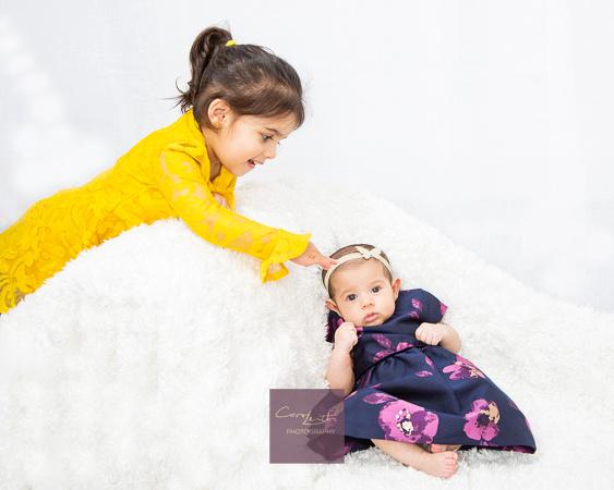 Newborn family studio photos
