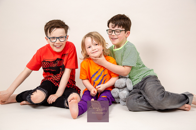 Studio family fun portraits in Aberdeenshire