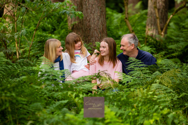 Outdoor family photoshoot Aberdeenshire