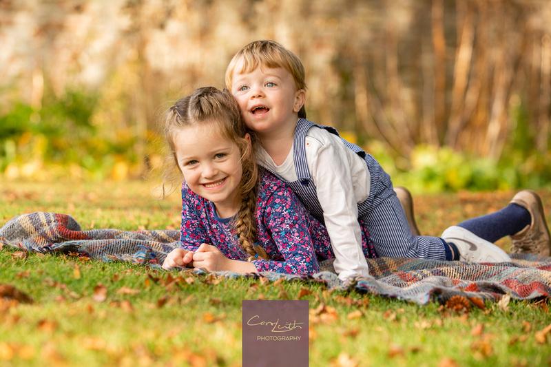 Autumn family portraits Aberdeenshire