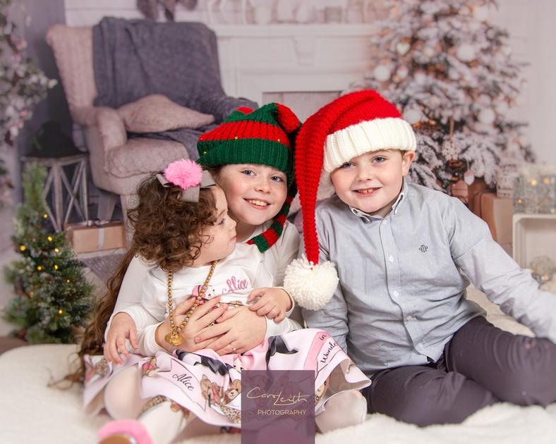themed Christmas photo shoot