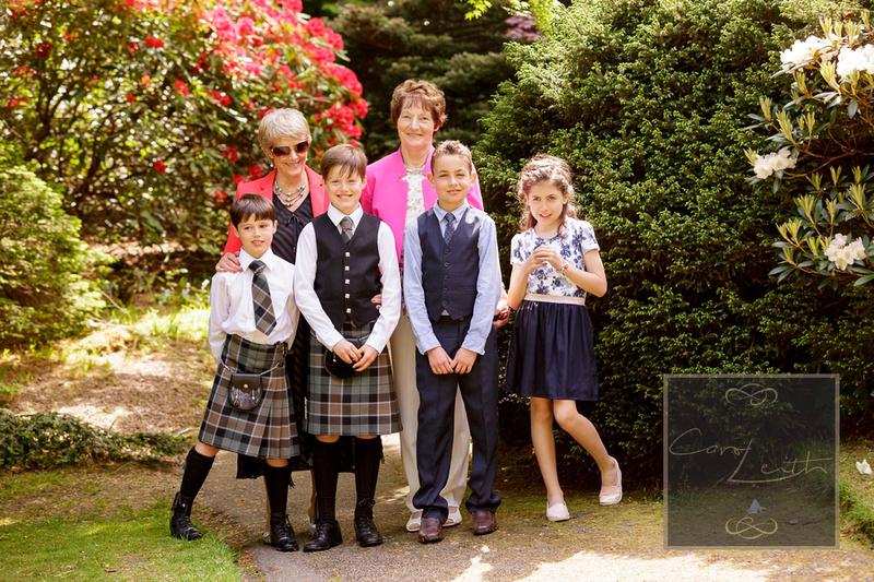 Family at Johnston gardens