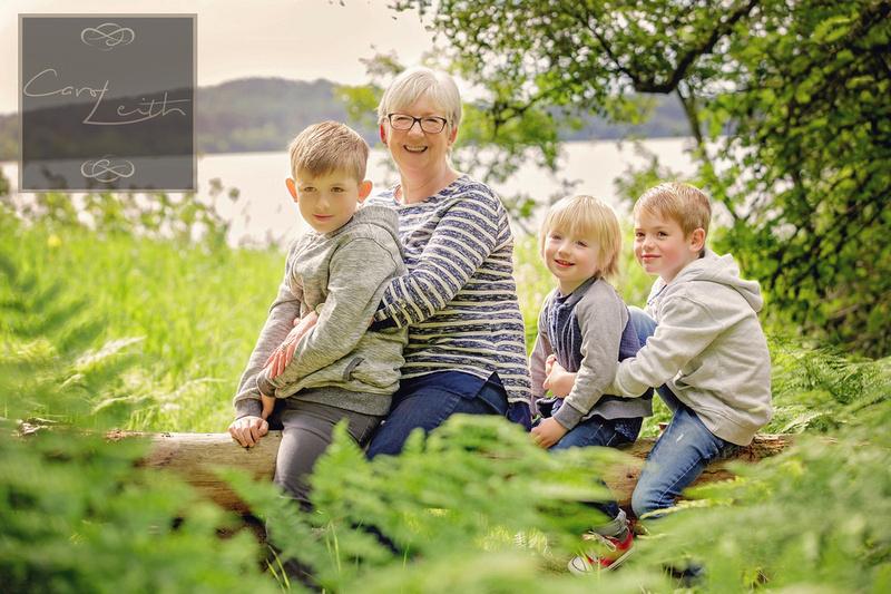 Grandma and Grandkids photograph