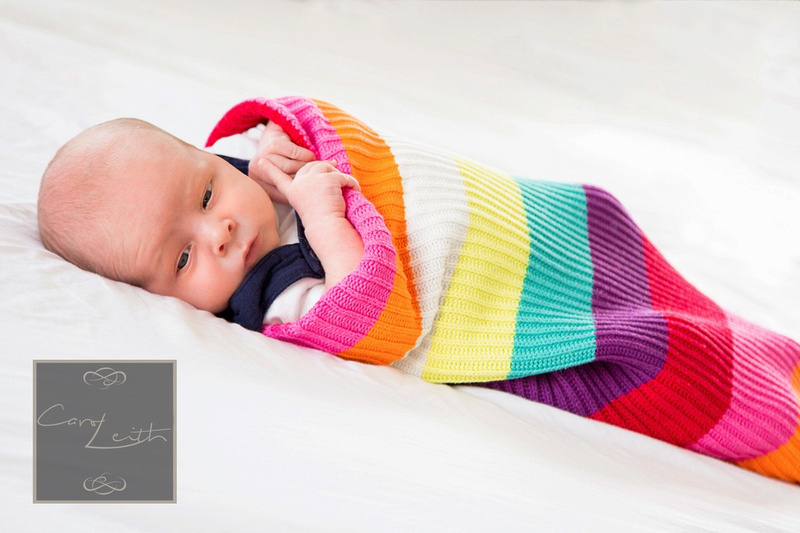 Newborn photo session at home