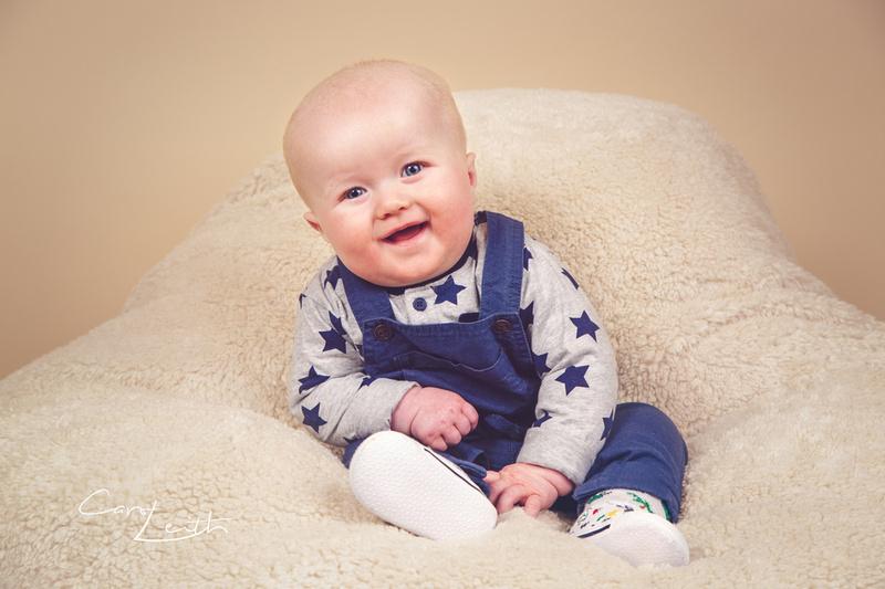 Baby photoshoot in the studio